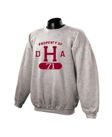 Property of DHA Class of 1971 Heavyweight Grey Crew Sweatshirt