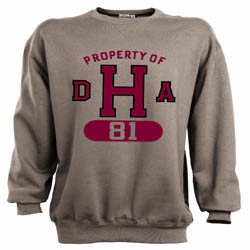 Property of DHA Class of 1981 Grey Crew Sweatshirt