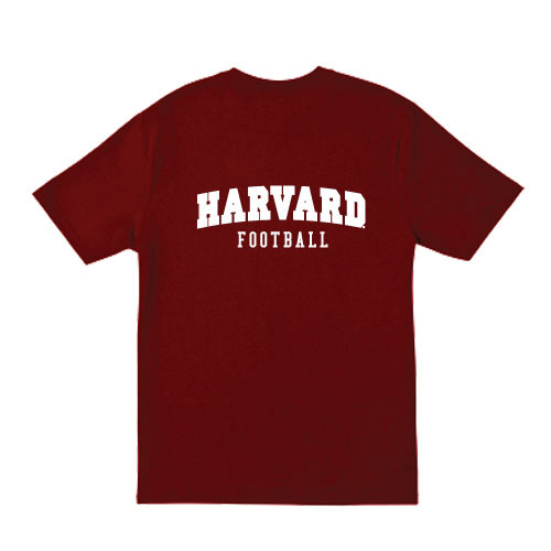 Crimson Harvard Football T Shirt