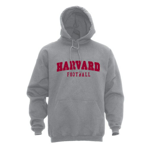 Grey Hooded Football Hooded Sweatshirt