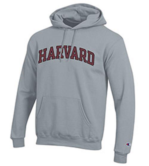Grey Harvard Hooded Sweatshirt