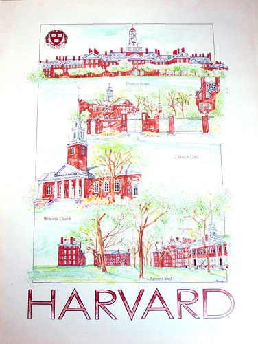 Watercolor Landmark Print