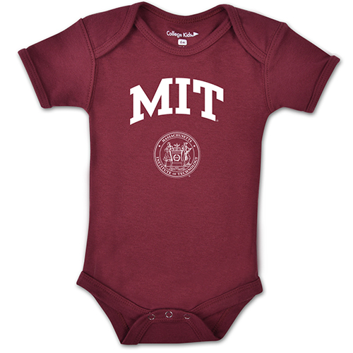 MIT Infant Maroon Short Sleeve Bodysuit