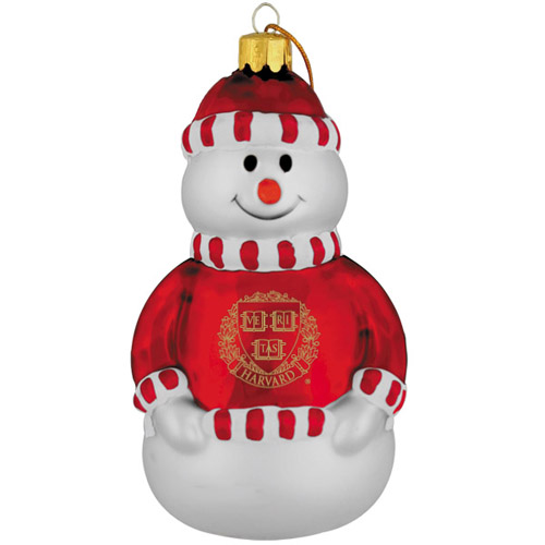 Harvard Seal Snowman Ornament