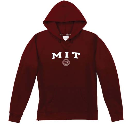 Women's Hooded Maroon MIT Sweatshirt