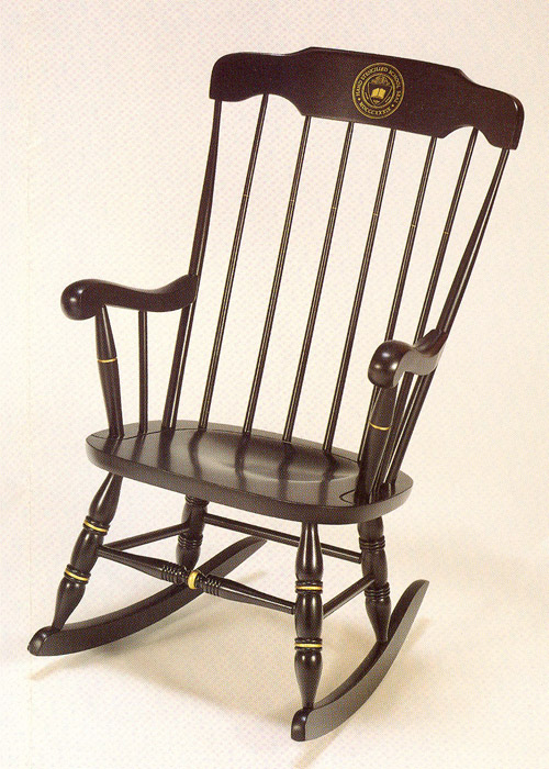 MIT or Sloan Black with Silk Screen Rocking Chair