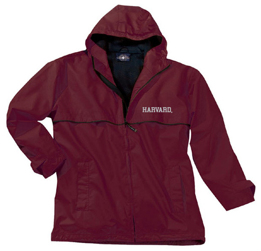 Men's Harvard New Englander Maroon Rain Jacket
