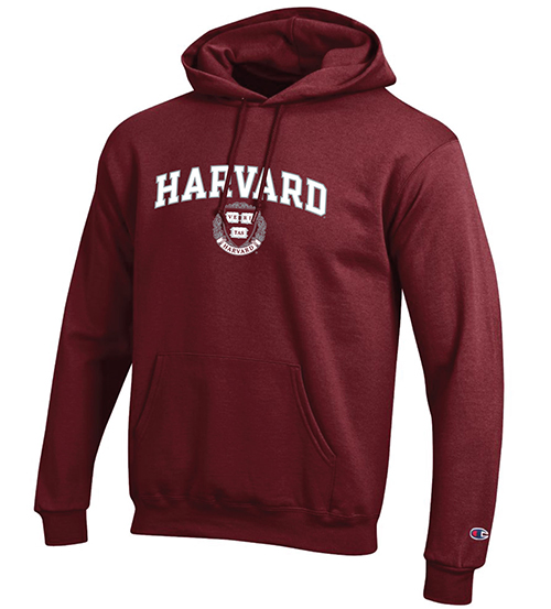 Harvard Seal Maroon Hooded Sweatshirt