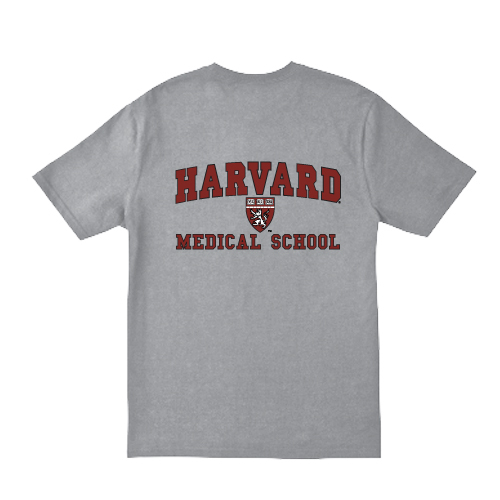 Harvard Medical School Shield Grey T Shirt