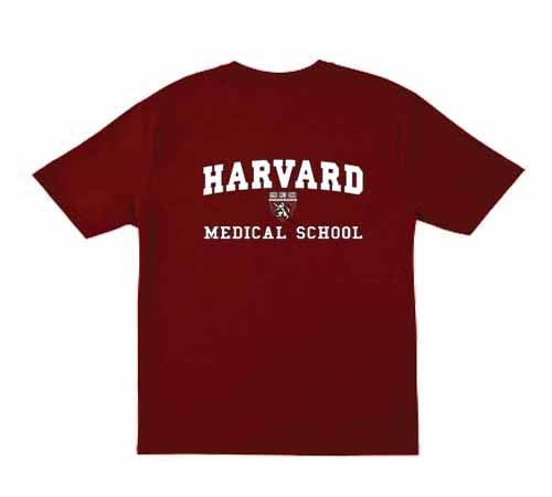 Harvard Medical Shield School Maroon T Shirt