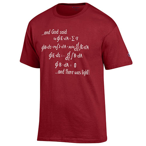 And God Said Maroon T Shirt