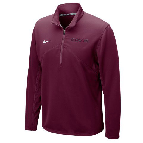 Nike 1/4 Zip Harvard Dry Fit Maroon Training Top