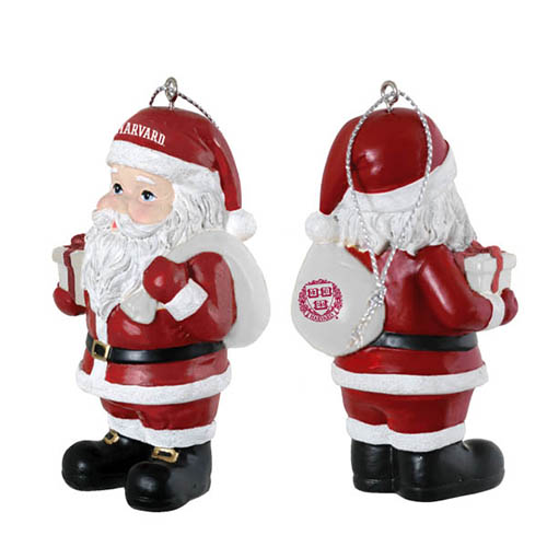 Harvard Santa Ornament