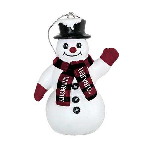 Harvard Top Hat Snowman Ornament