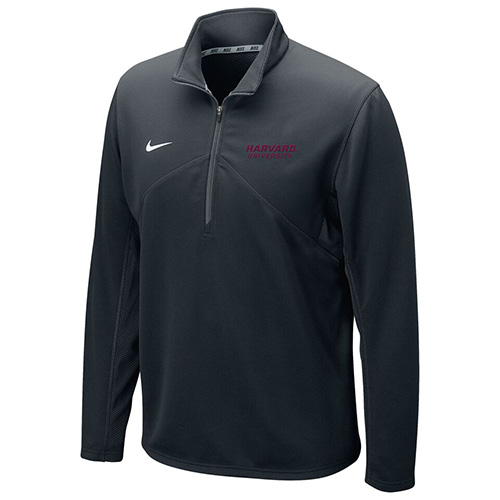 Nike 1/4 Zip  Dry Fit Black Training Top w/Harvard on the sleeve