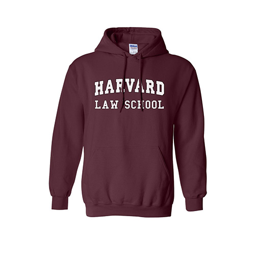 Harvard Law School Maroon Hooded Sweatshirt