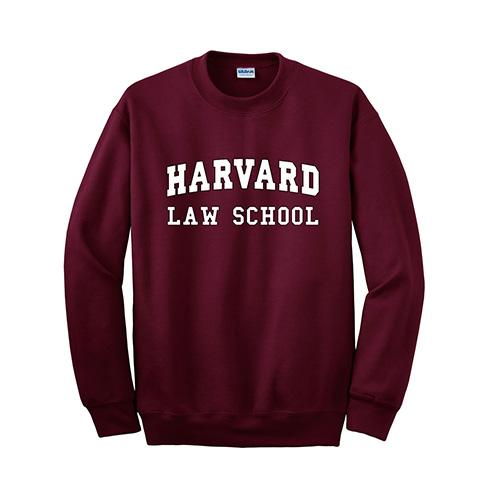 Harvard Law School Maroon Crew Sweatshirt