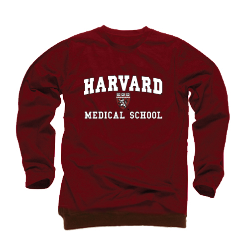 Harvard Medical School Maroon Crew Sweatshirt