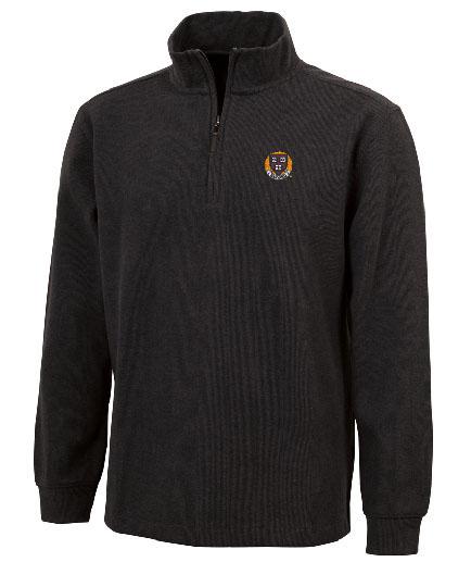 Harvard 1/4 Zip Charcoal Cotton Pullover