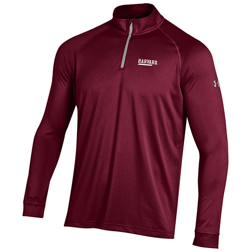 Under Armour Harvard 1/4 zip Maroon Tech Tee