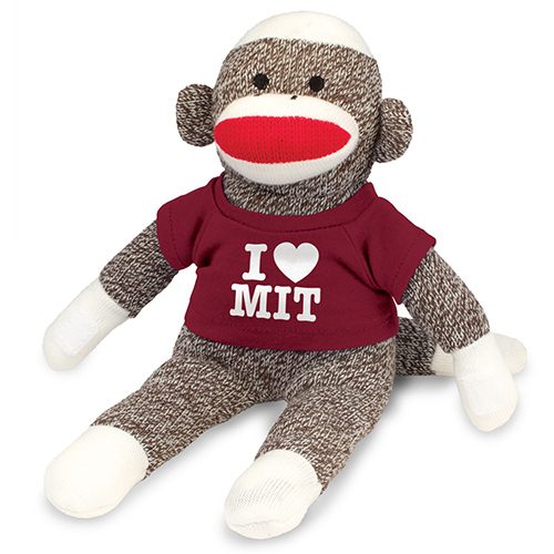 MIT Sock Monkey Plush