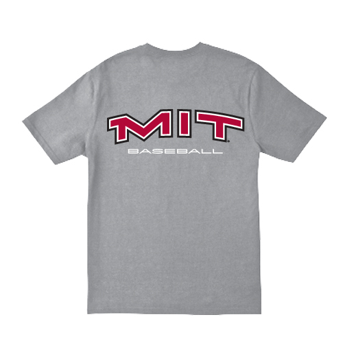 MIT Grey Baseball T Shirt