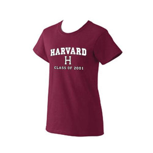 Class of 2001 Women's Maroon T Shirt
