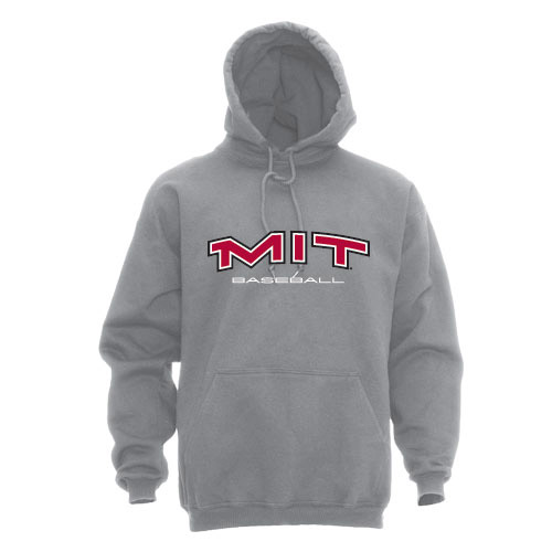 MIT Hooded Grey Baseball Sweatshirt