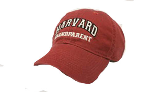Burgundy Unstructured Harvard Grandparent Hat