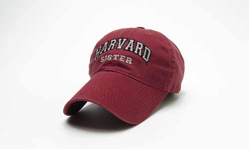 Burgundy Unstructured Harvard Sister Hat