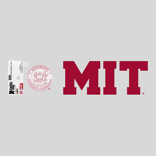 MIT Rectangular Inside Decal with Seal
