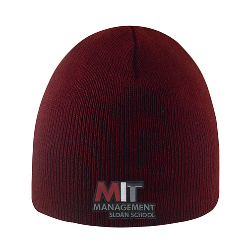 MIT Sloan  School of Management Maroon  Knit hat