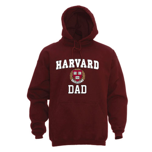 Harvard Dad  Maroon  Hooded Sweatshirt