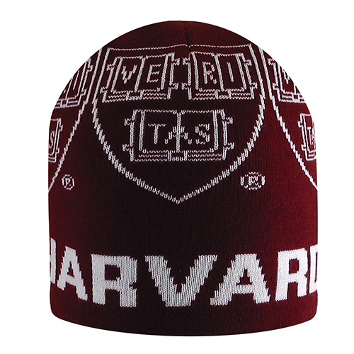 Harvard Knit Maroon Knit Beanie