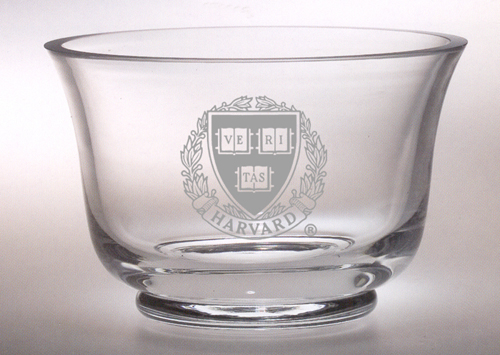 Harvard Veritas Revere Crystal Bowl