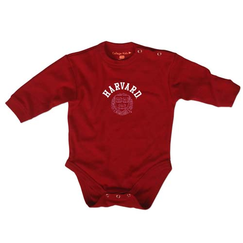 Harvard Maroon Long Sleeve Infant Bodysuit