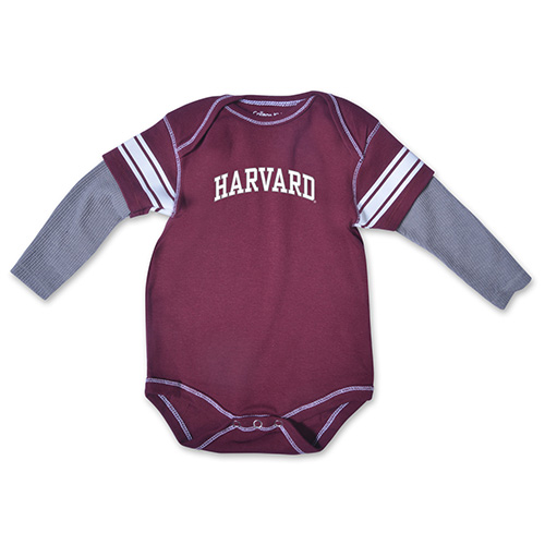 Harvard Maroon & Graphite Running Back Infant Bodysuit