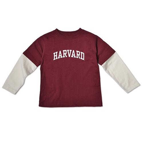 Harvard Maroon Toddler Layered Long Sleeve
