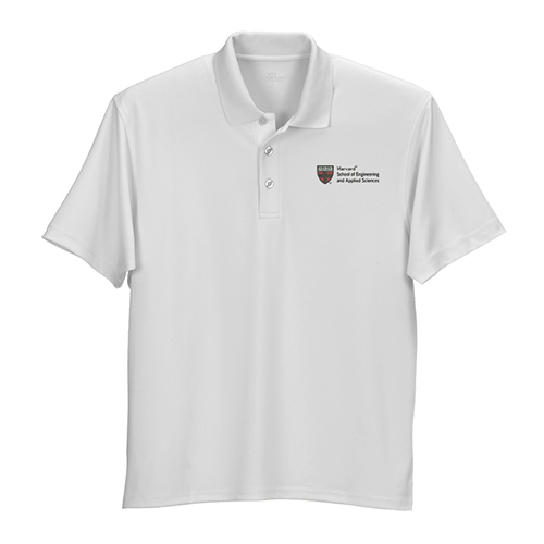 Harvard School of Applied Science & Engineering Wicking Micro Mesh White Polo