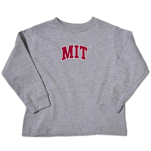 MIT Toddler Grey Long Sleeve T shirt