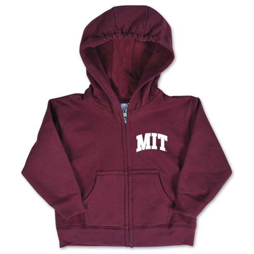 MIT Maroon Infant Full Zip Sweatshirt