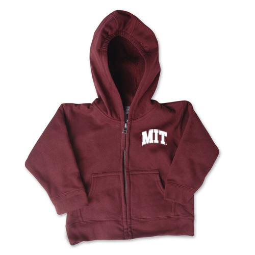 Maroon Full-Zip Toddler MIT Sweatshirt