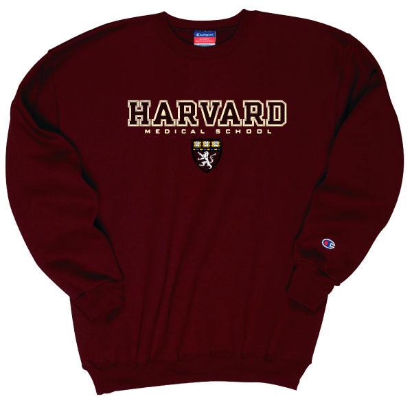 Harvard Medical Applique Seal Crewneck Sweatshirt