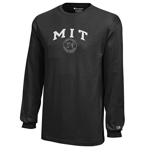 Youth MIT Black Long Sleeve Tee Shirt