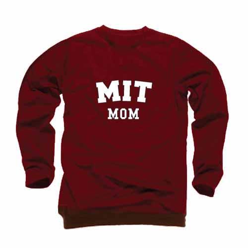 MIT Mom Maroon Crew Sweatshirt