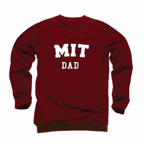 MIT Dad Maroon Crew Sweatshirt