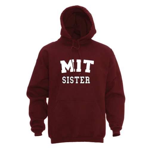MIT Sister Maroon Hooded Sweatshirt