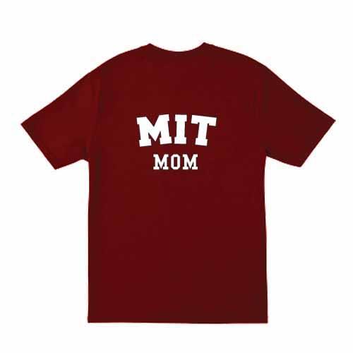 MIT Mom Cardinal  T Shirt