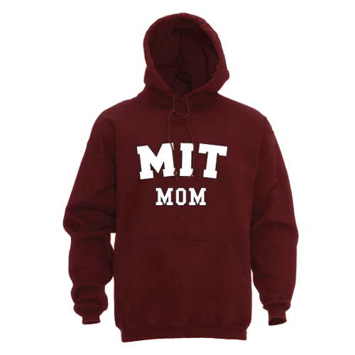 MIT Mom Maroon Hooded Sweatshirt