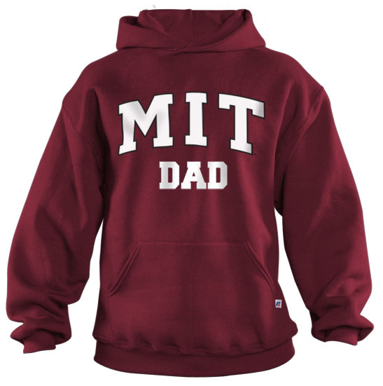 MIT Dad Maroon Hooded Sweatshirt